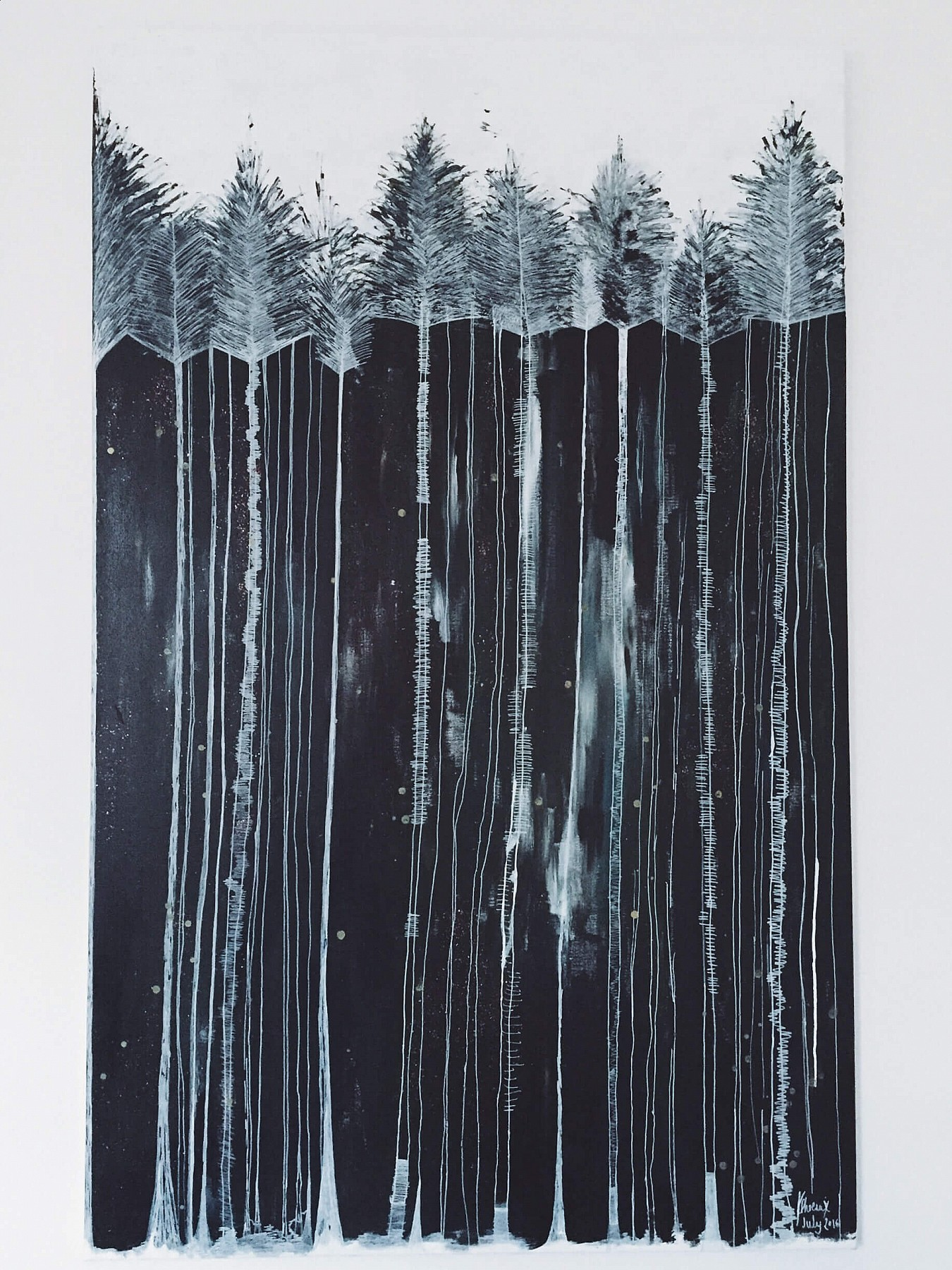 Pine Forest I, a painting by artist Kate Phoenix.