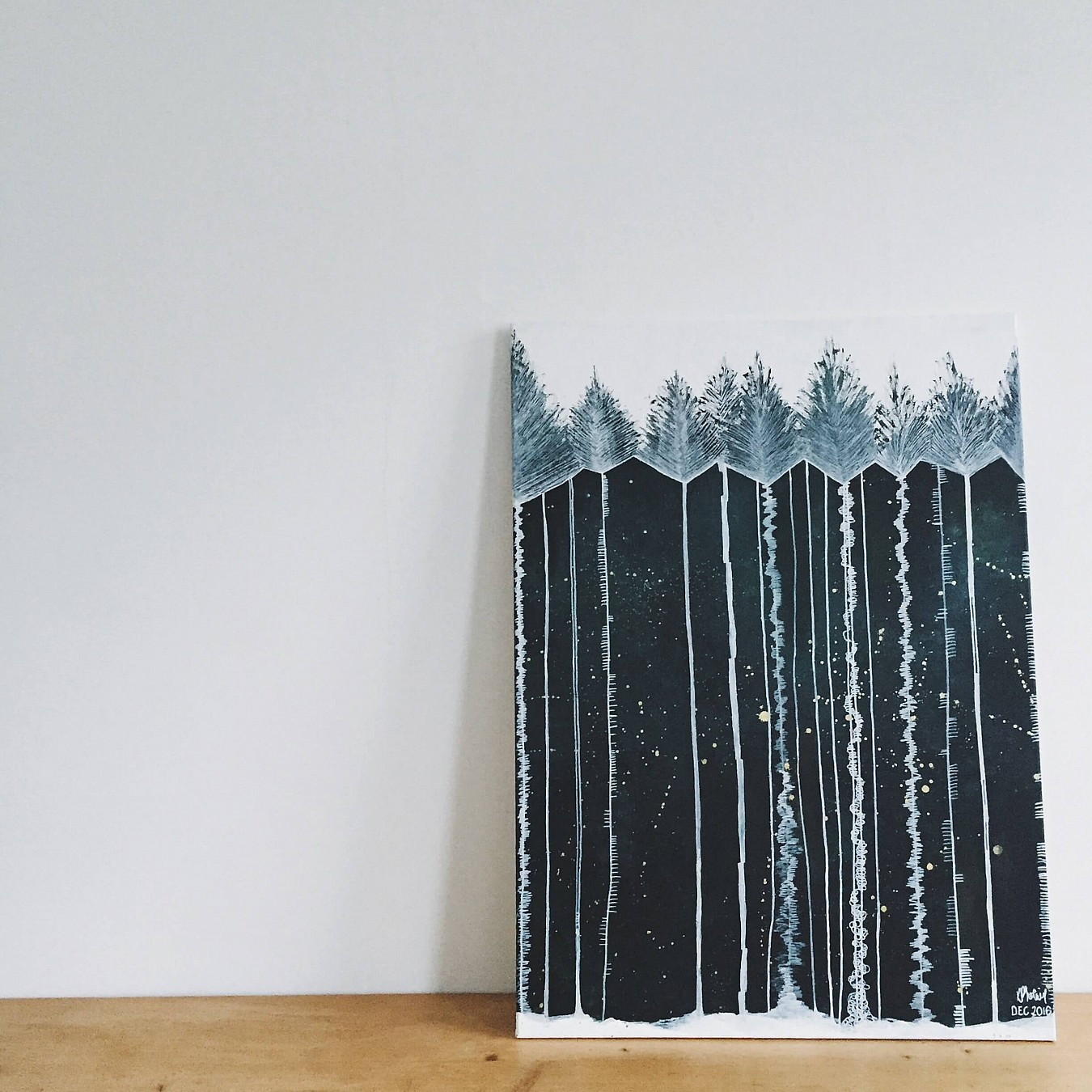Pine Forest II, a painting by artist Kate Phoenix.